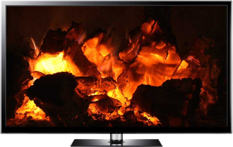 Fireplace Video Loop On Any Media Player Burning Cinders