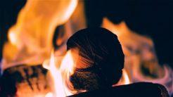 funky tv fireplace