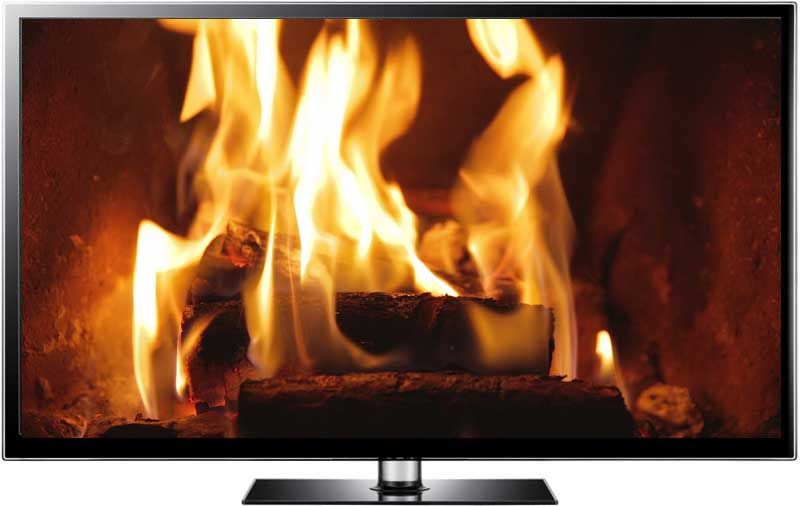 Fire Screensaver Video in HD - Toasty Fireplace for Christmas