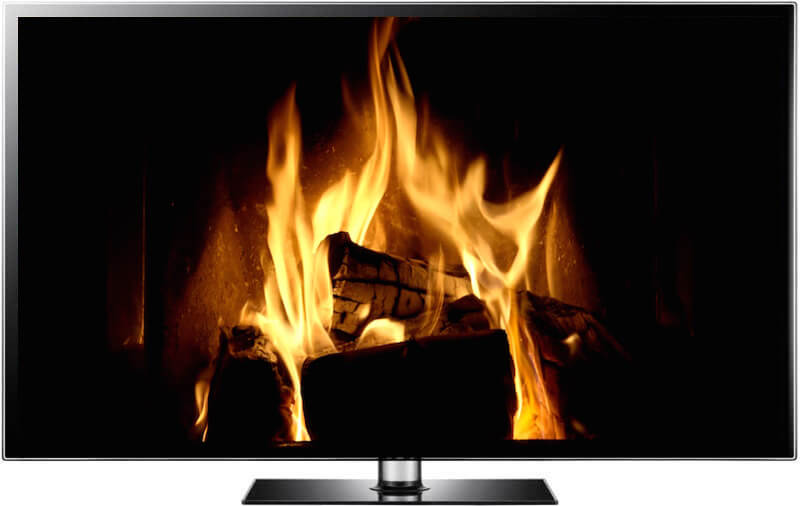 christmas fireplace video and fireplace screensaver