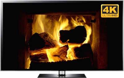 4K Fireplace Screensaver