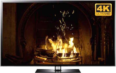 4k Smart Tv Fireplace For Uhd Tv Screens