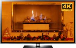 4K Christmas Fireplace Screensaver TV
