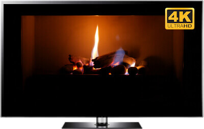 4K Virtual Fireplace