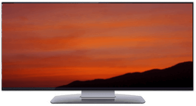 Ultrawide nature video screensaver of a beautiful sunset